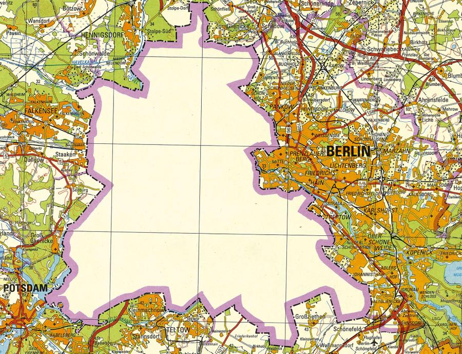 east german berlin map no west berlin