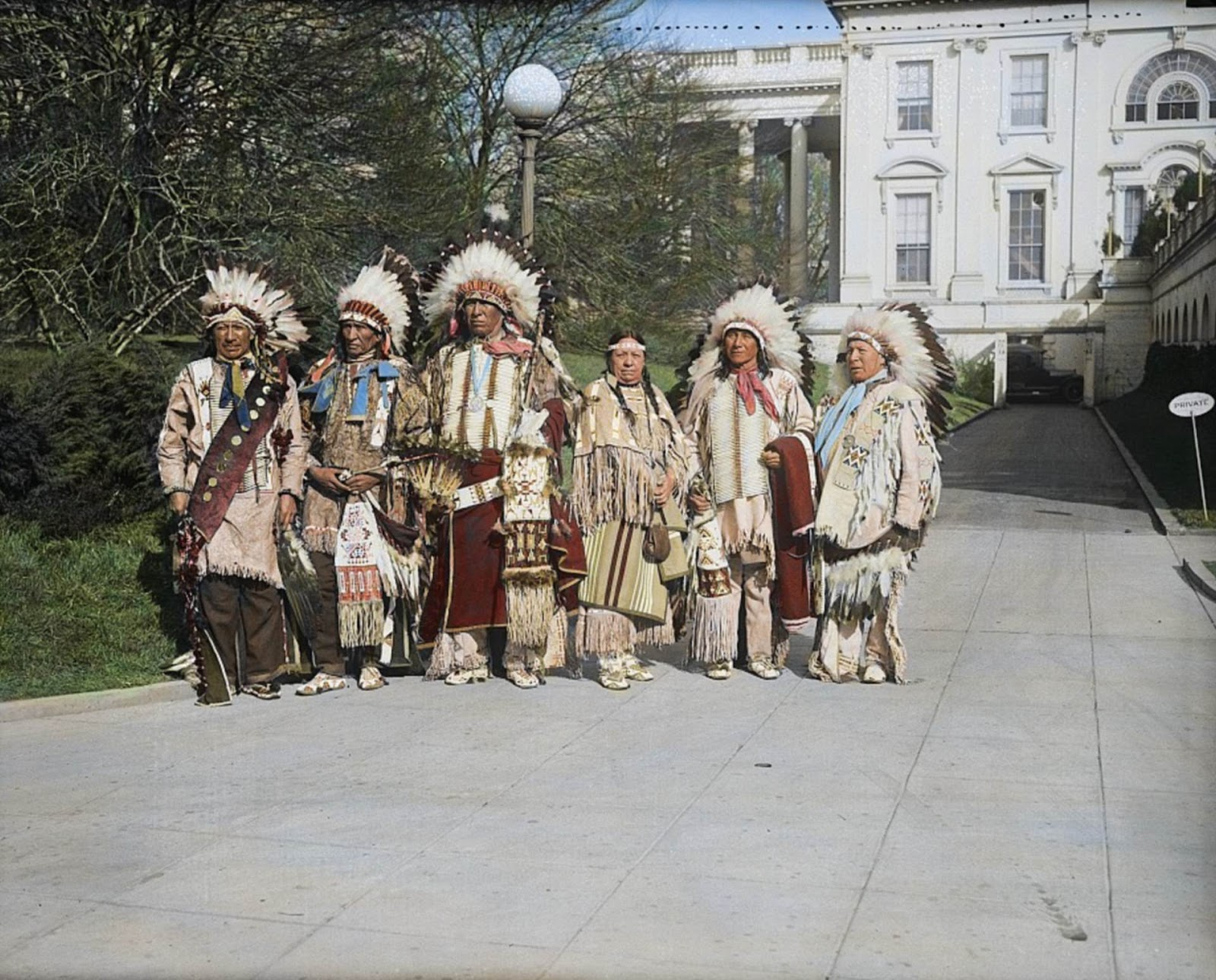 Native Americans at the White House, circa 1929
