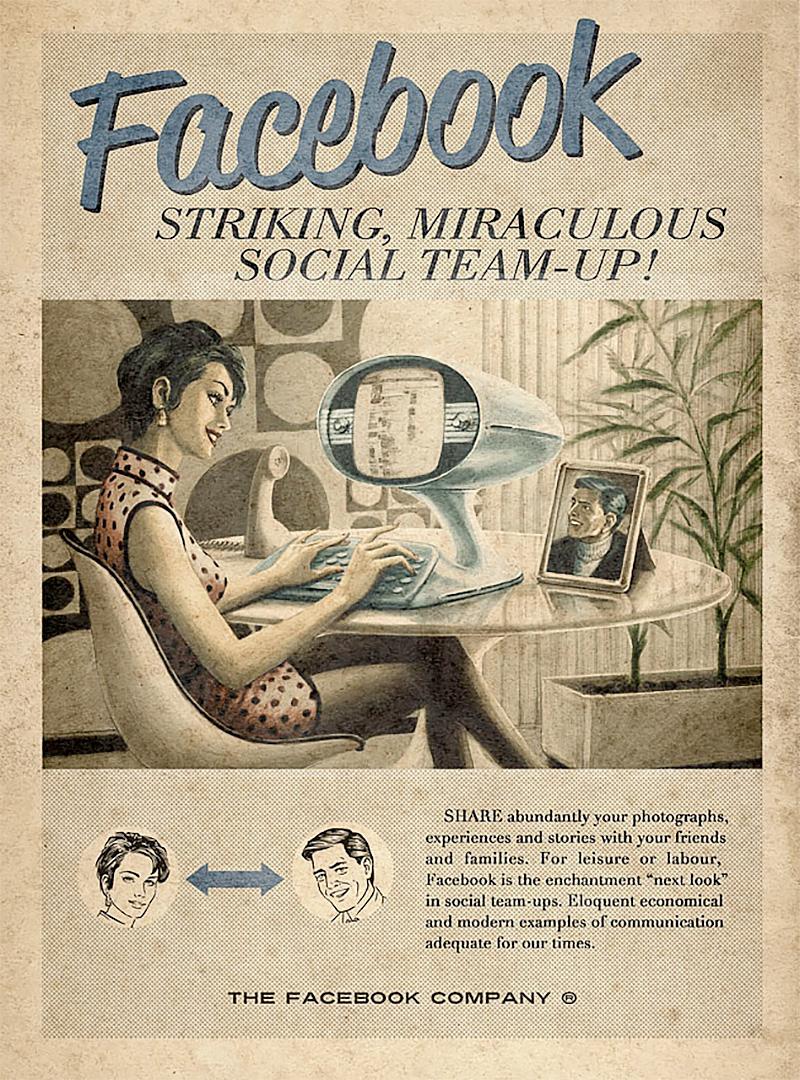 vintage social media ad facebook