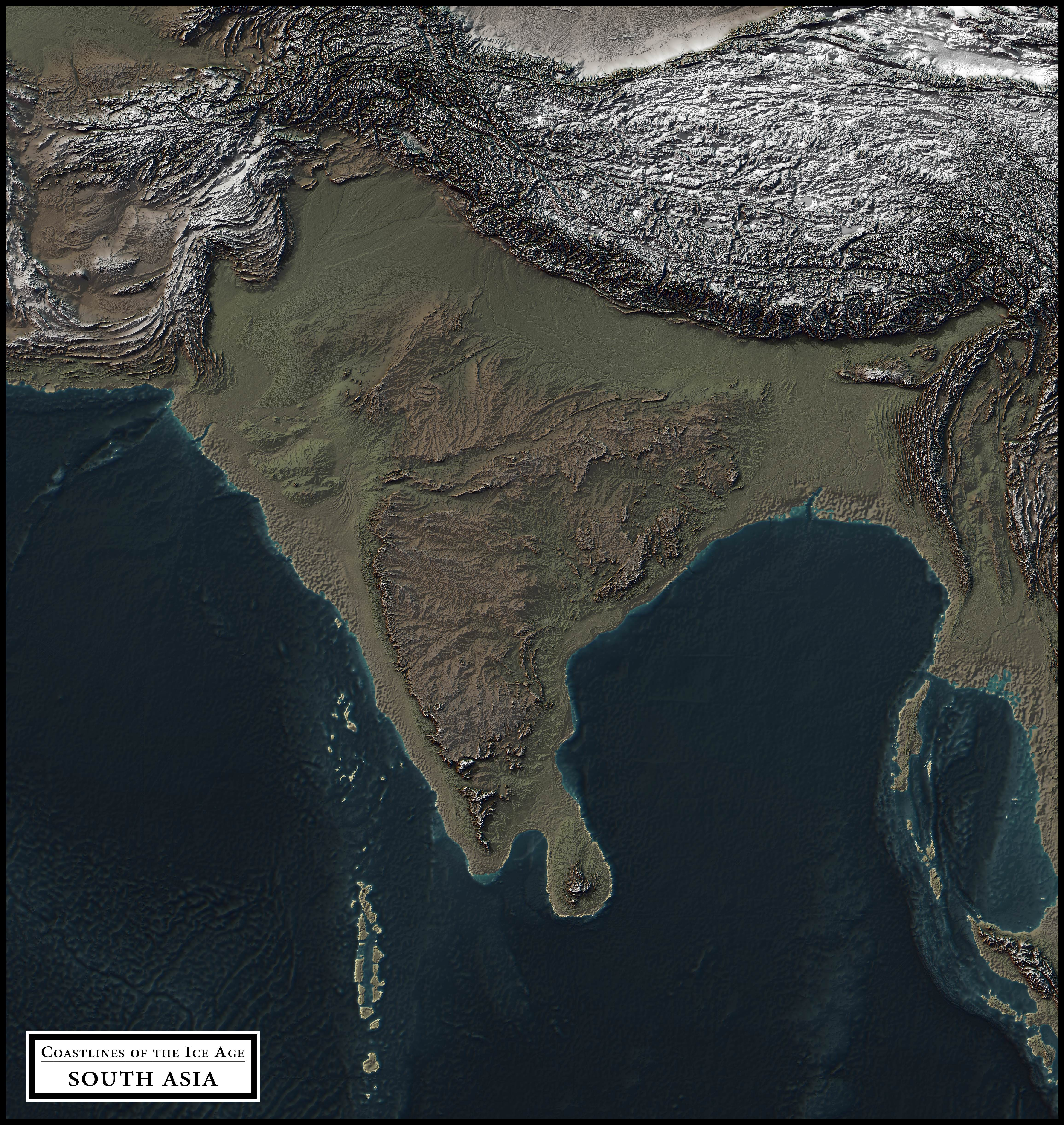 Coastlines Of The Ice Age On Amazing Relief Maps Earthly Mission