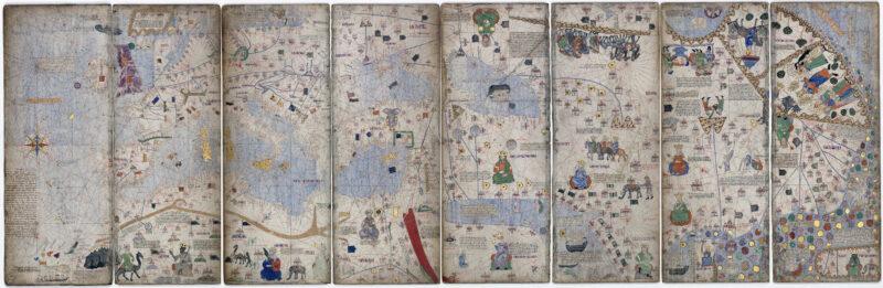 catalan atlas world map