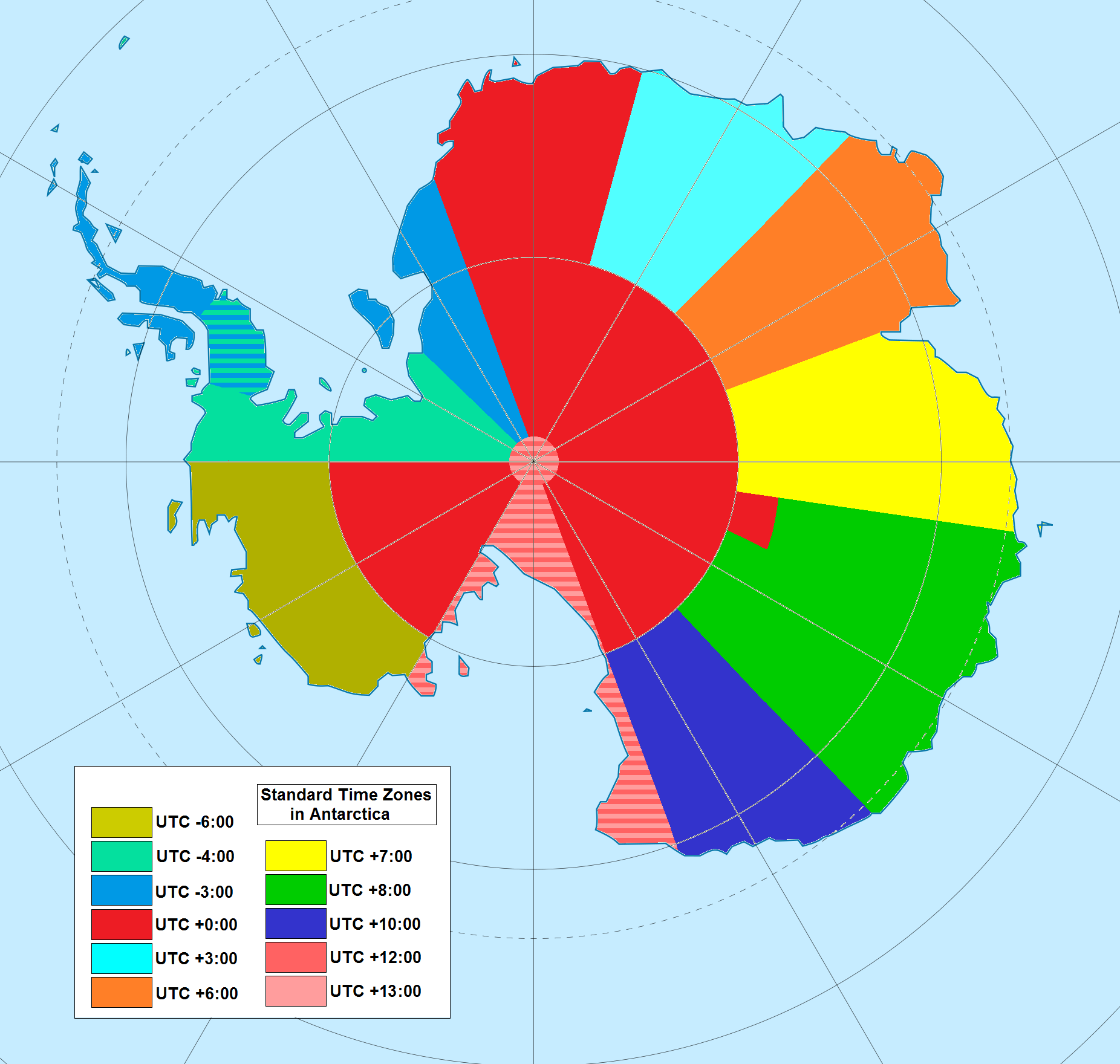 antartica time zones