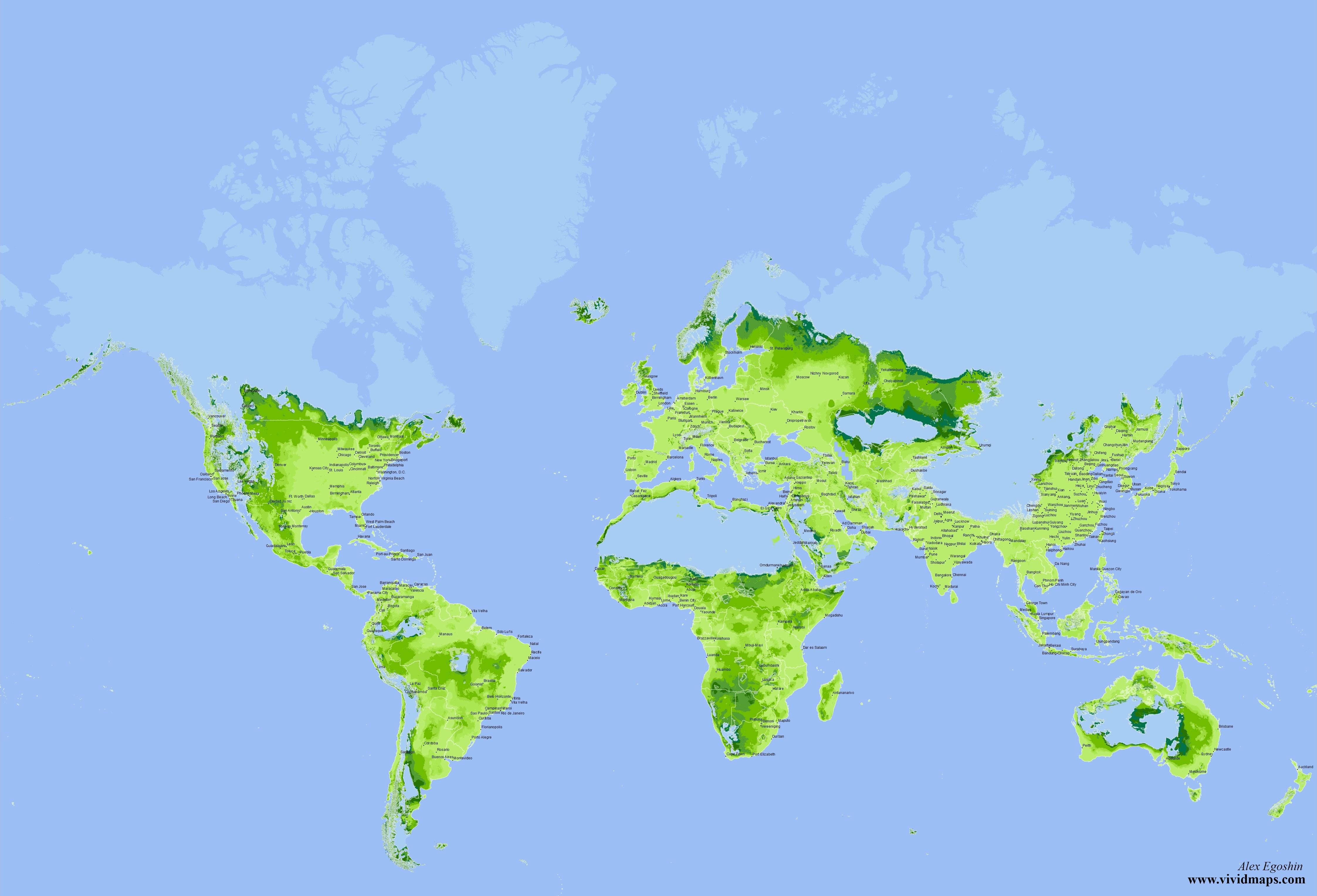 Most Suitable Habitats for Homo Sapiens