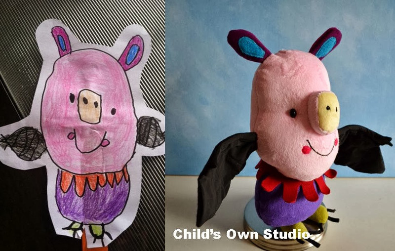 Kids' Drawings into Stuffed Toys