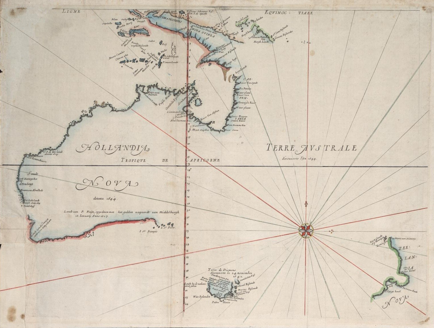 1659 Map of a Not Yet Fully Discovered Australia