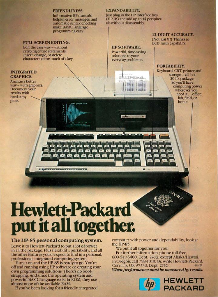 Hewlett-Packard 85