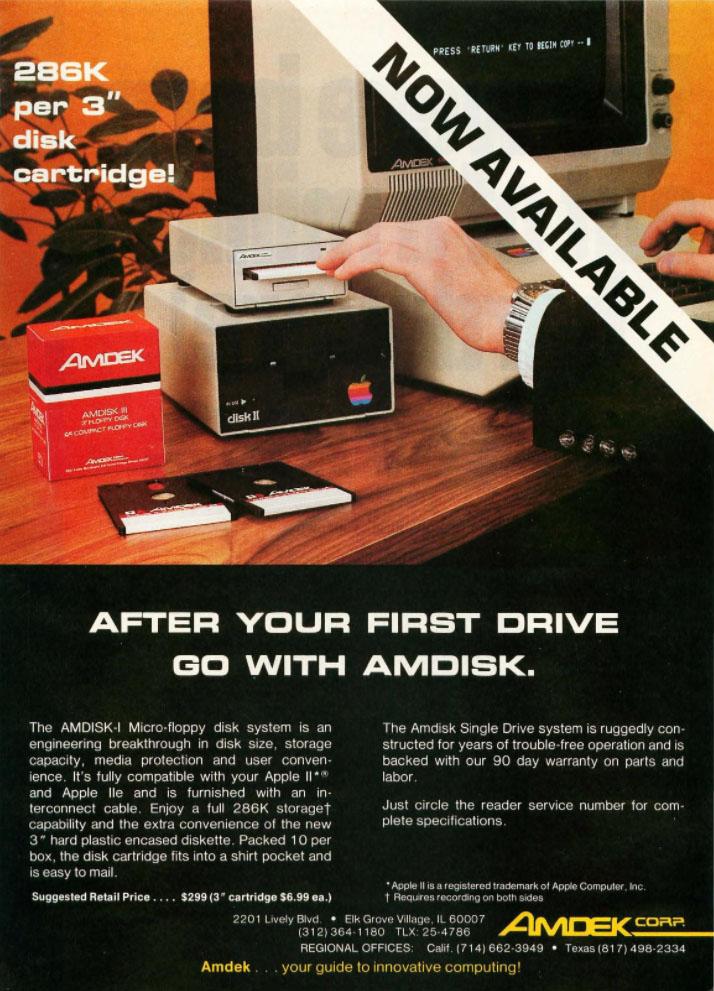 """Amdisk 3"""" Micro-floppy disk system"""