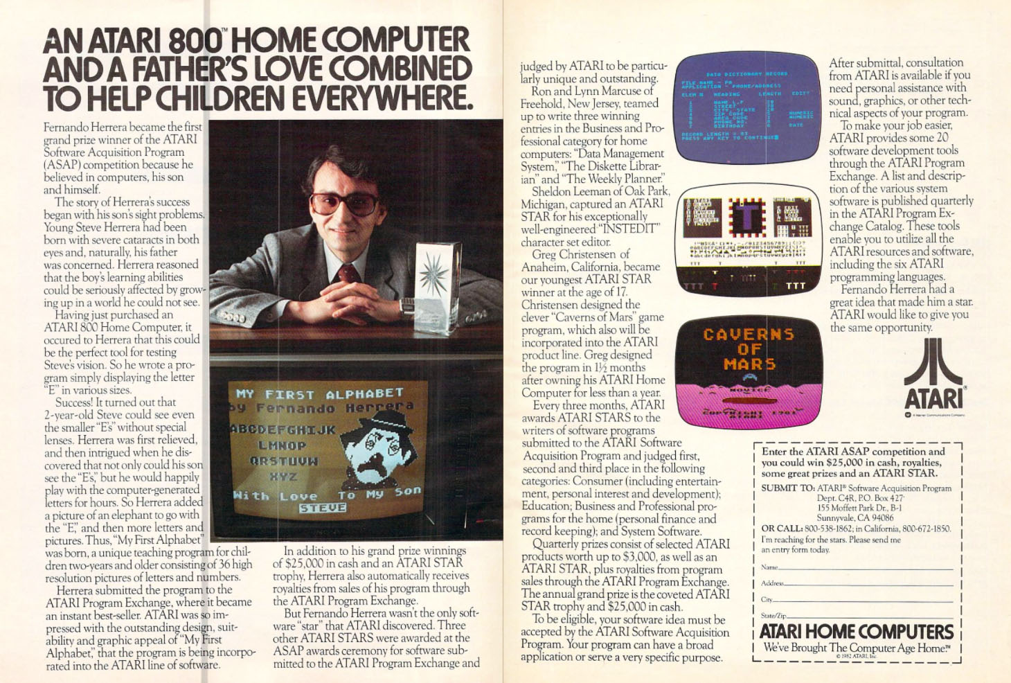 Atari 800 Home Computer, 1982