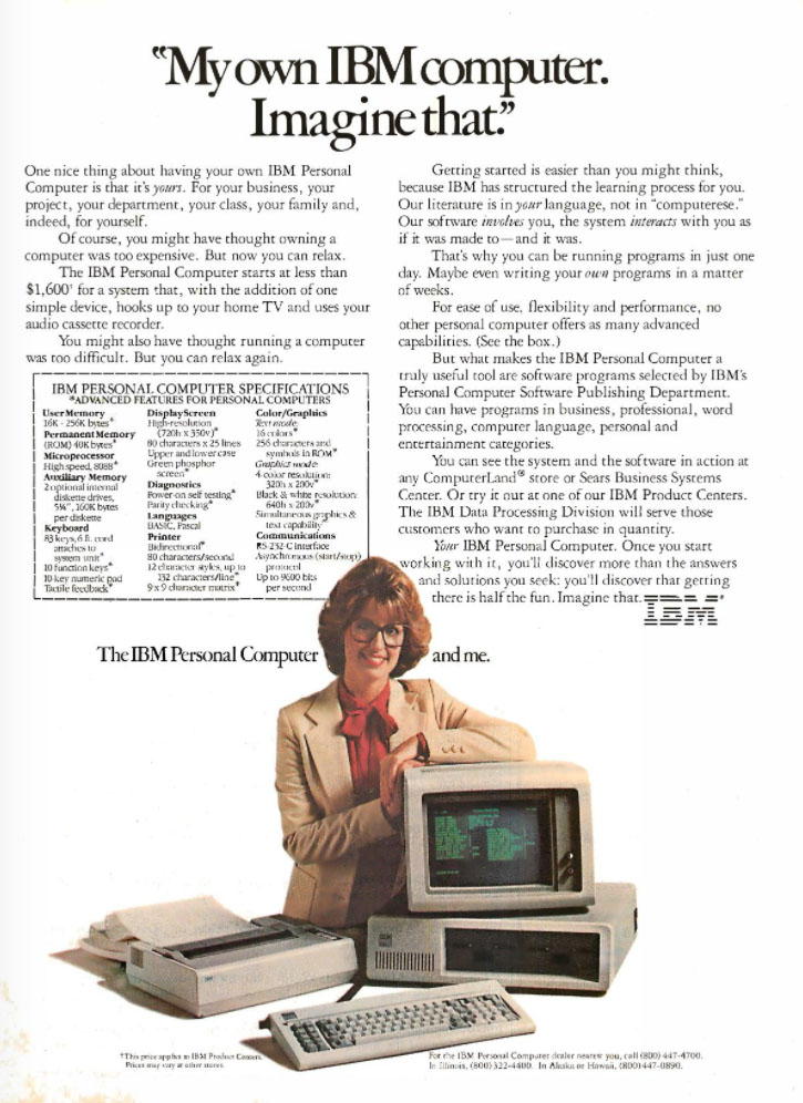 IBM Personal Computers, 1982