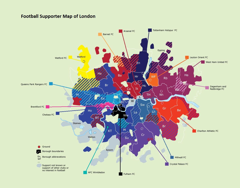 London Football Fan Map