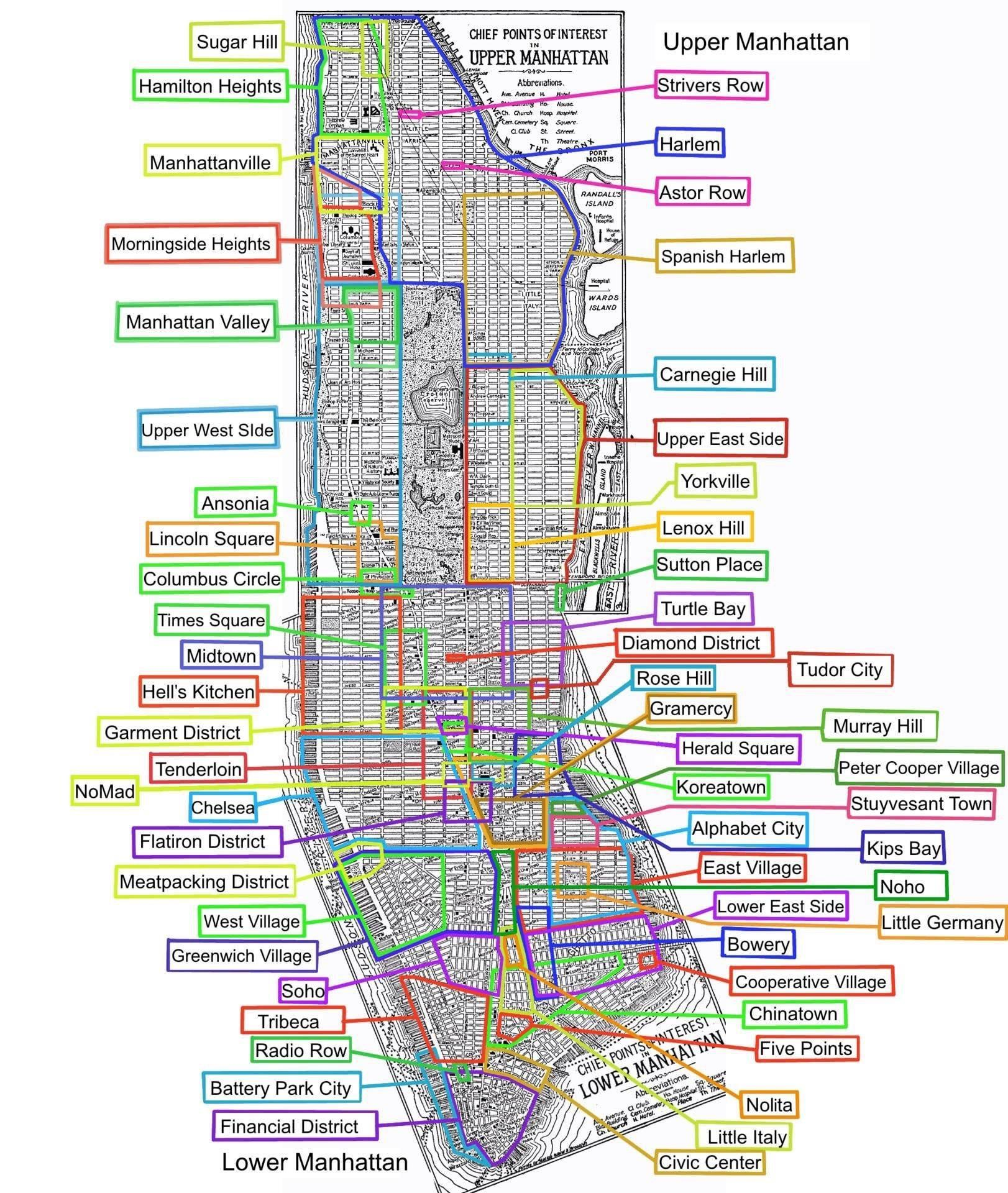 Map of Manhattan Neighborhoods