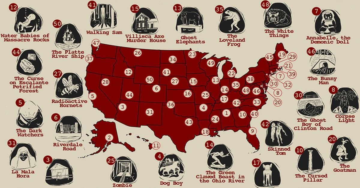 The Scariest Urban Legend in Each US State - Earthly Mission
