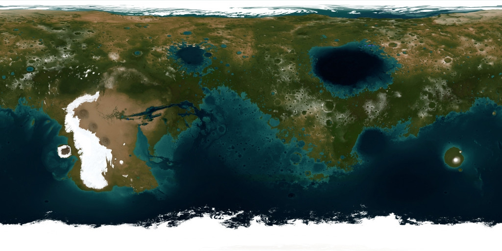 Hypothetical Map of Terraformed Mars