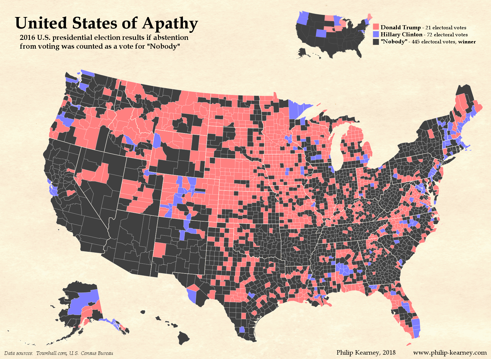 Map of Political Apathy in the United States