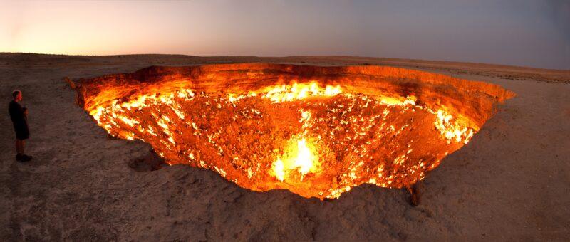 door to hell panorama